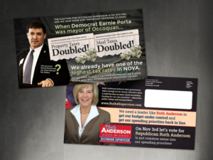political design postcard mailer